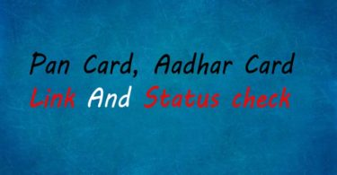 PAN Card Aadhar Card Link